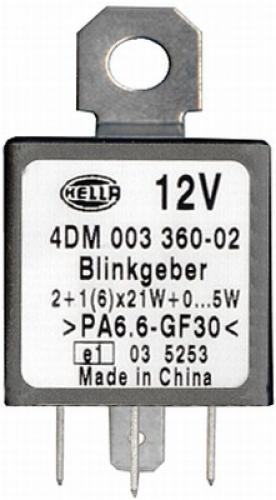 HELLA BLINKGEBER4DM 003 360-021 RELAIS 4DM003360021 BLINKERRELAIS