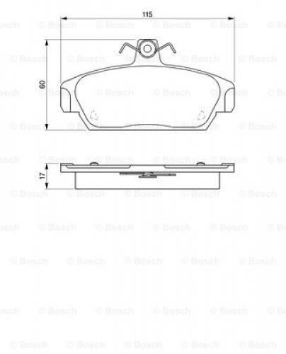 Bosch Bremsbelagsatz Scheibenbremse 0986424092 für ROVER