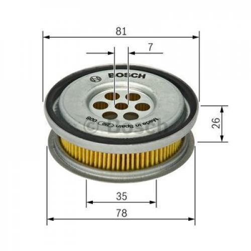 BOSCH Hydraulikfilter Lenkung 1 457 429 416 81mm Filtereinsatz für MERCEDES W124