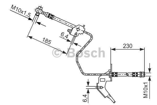 Bosch-Bremsschlauch-1987476200-fuer-CHEVROLET-HOLDEN-OPEL