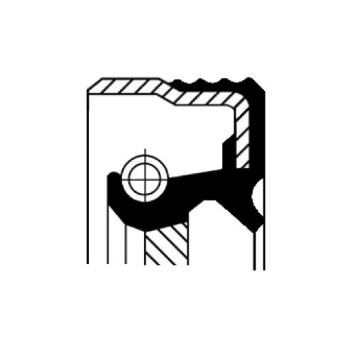 Corteco Wellendichtring Differential 12012697B für ALFA ROMEO CITROËN PEUGEOT