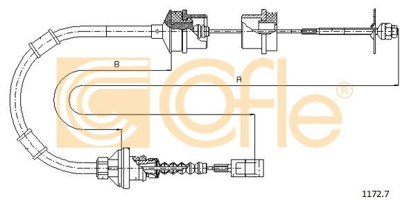 COFLE Seilzug Kupplungsbetätigung 11727 für FIAT