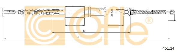 COFLE Bremsseil Seilzug Feststellbremse 461.14 für FIAT MAREA hinten rechts 16V